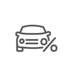car loan icon on white background vector image