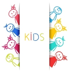 Cartoon Colorful Children Sketch Style vector image vector image