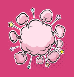 Clouds boom backgrounds vector image