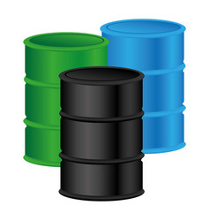 color silhouette with oil barrels vector image