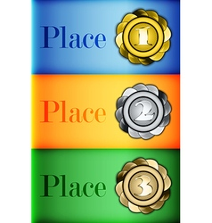 Colored medals Infographics Prizes vector image