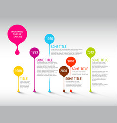 Colorful infographic timeline report template vector