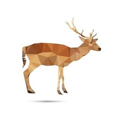Deer abstract vector image