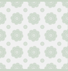 Ethnic lace floral geometric seamless pattern vector