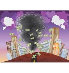Financial Tornado vector