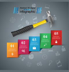 Hammer screwdriver repair icon business vector