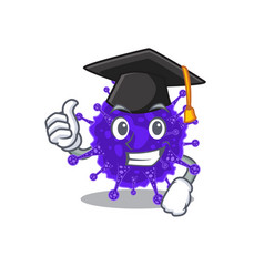 Happy nidovirales in graduation hat for ceremony vector