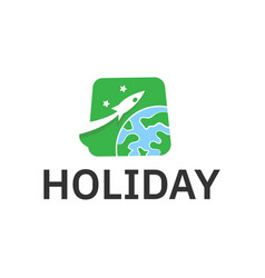 holiday tour and travel logo design inspiration vector image
