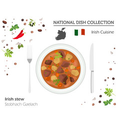 irish cuisine european national dish collection vector image