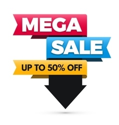 Mega sale banner big sale poster design vector