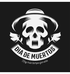 Mexican day of the dead monochrome vector