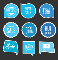 modern sale stickers and tags collection 8 vector image