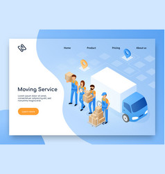 Moving company online service website vector