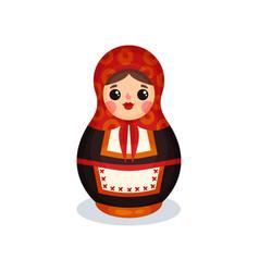 nesting doll russian wooden matryoshka babushka vector image