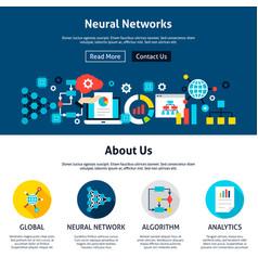 neural networks website design vector image