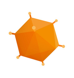 Orange virus isometric 3d icon vector