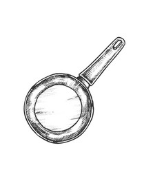 pan stainless cooking kitchenware vintage vector image