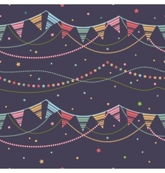 Party seamless background vector image