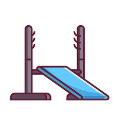 power rack icon vector image