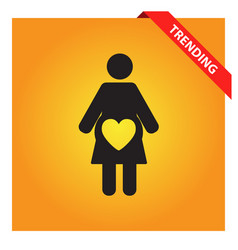 Pregnant woman icon for web and mobile vector