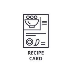 recipe card line icon outline sign linear symbol vector image