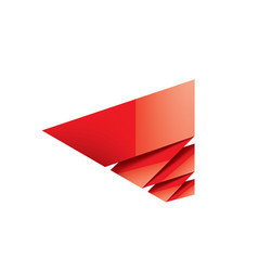 red sticker on white background vector image
