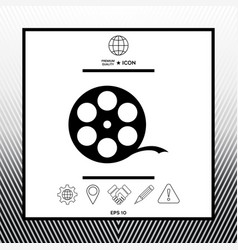 reel film symbol vector image
