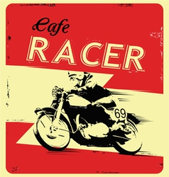 Retro poster motorcycle vector