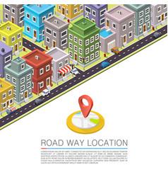 Road in city isometric vector