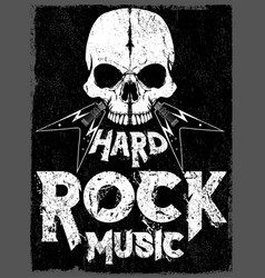 rock star poster vintage and roll vector image