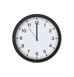 Round wall clock mockup isolated vector