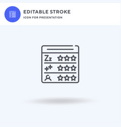 Score icon filled flat sign solid vector