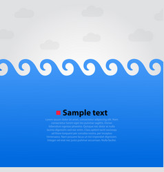 sea and waves bright background vector image