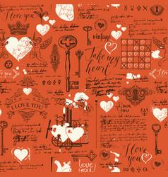 seamless pattern on theme declaration love vector image