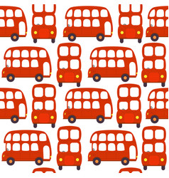 seamless pattern with london red bus vector image