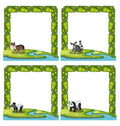 set of animal frame vector image