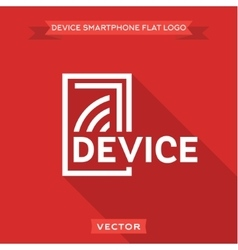 Smartphone flat circuit device logo icon vector image
