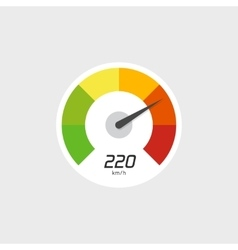 Speedometer icon isolated with speed vector