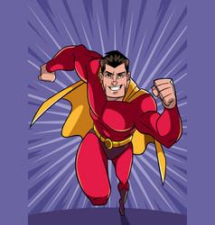 Superhero running fast vector