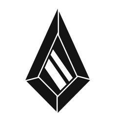 Tourmaline jewel icon simple style vector