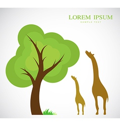 Trees and giraffes vector