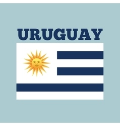 Uruguay country flag vector
