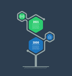 Vertical infographics or timeline with 2 options vector