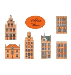 Victorian houses in color vector