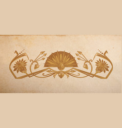 vintage egyptian ornament vector image