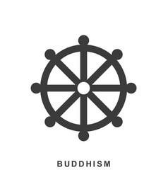 Wheel dharma dharmachakra - a symbol buddhism vector