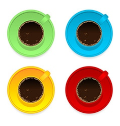 Colorful coffee cups vector image