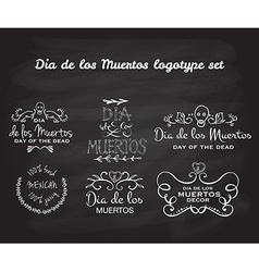 Day of the dead logotype set vector image