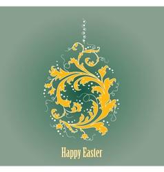 Ornamental easter egg vector image vector image
