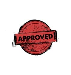 Approved stamp badges vector image